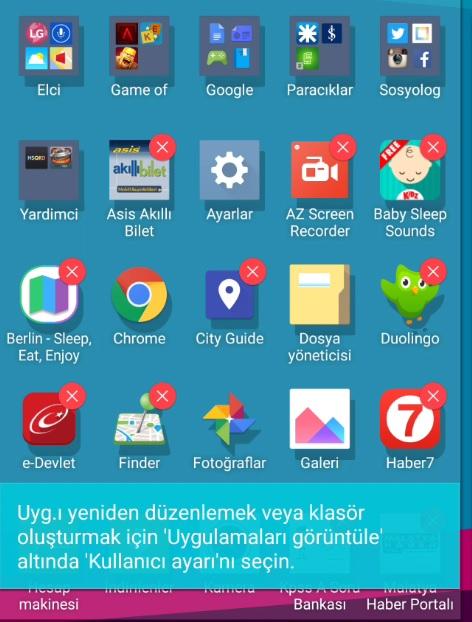 LG G4 Klasör Oluşturma